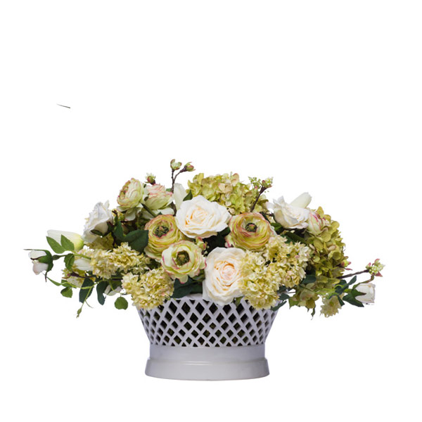 ASSORTED CENTERPIECE IN LATTICE CONTAINER