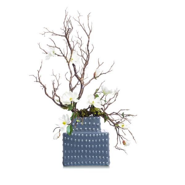 Cream Mini Magnolia in Grey Tower