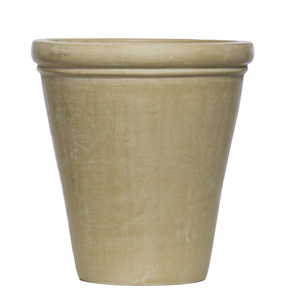 Beige Rolled Rim Pot