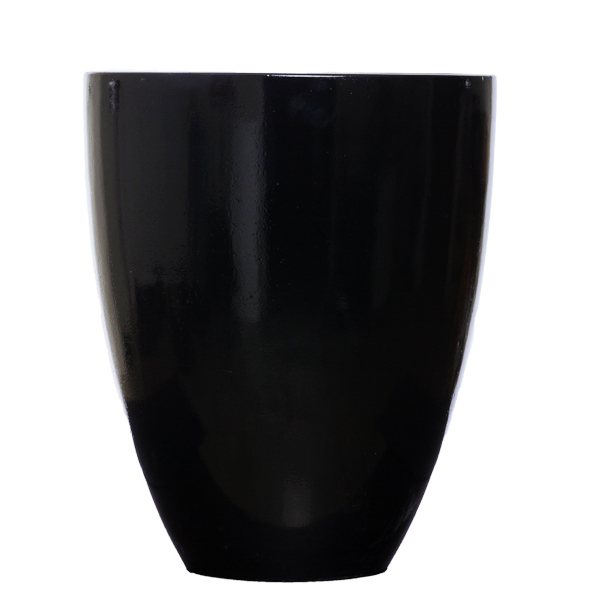 Tall Black Shiny Pot