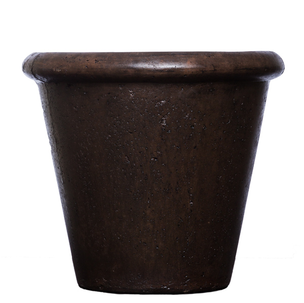 Brown Rolled Rim Pot
