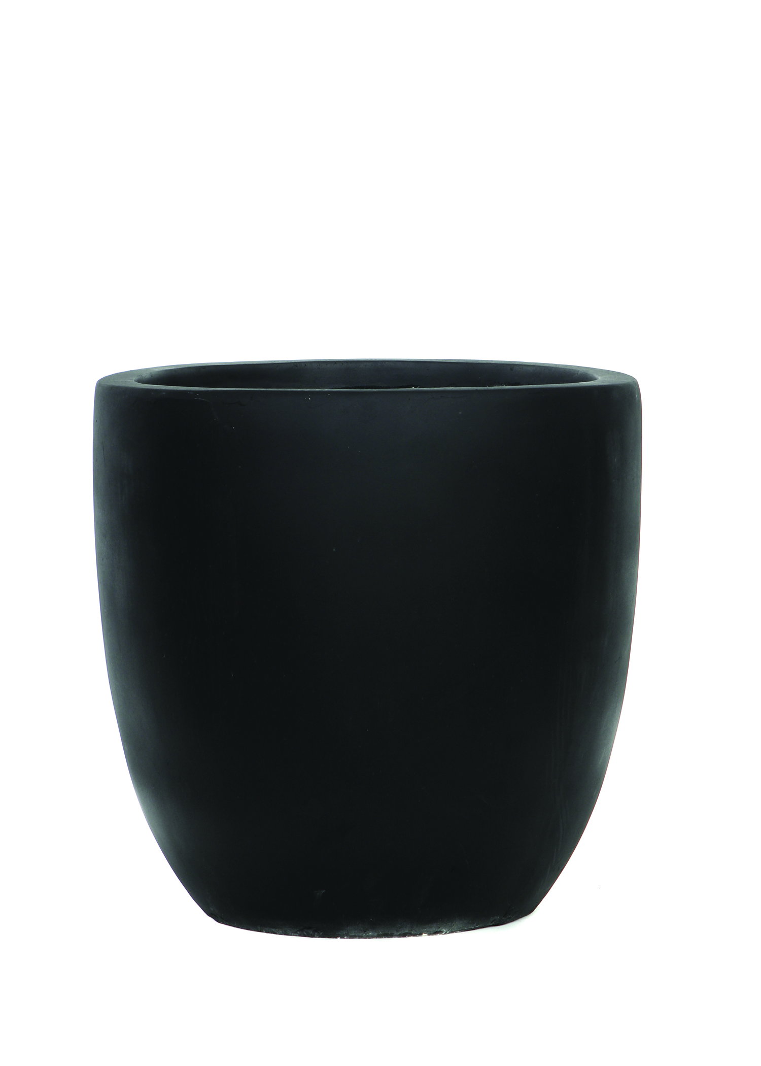 Round Tapered Resin Pot-Black