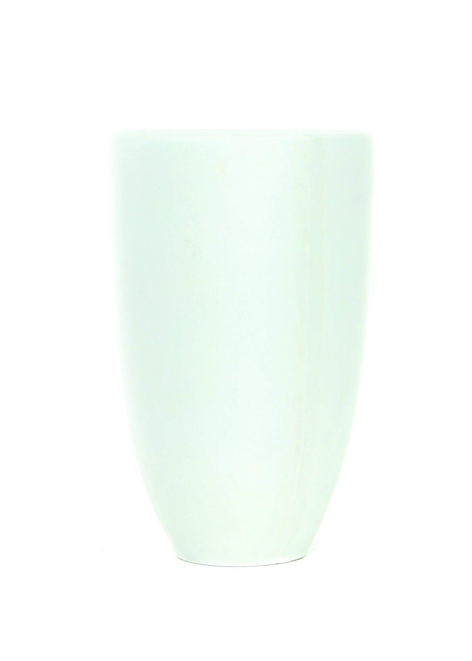 Tall White Round Tapered Resin Pot