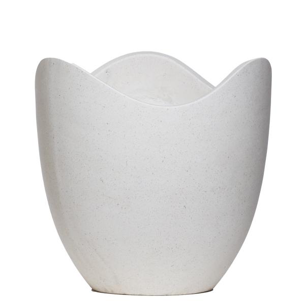 White Wavy Terrazzo Pot