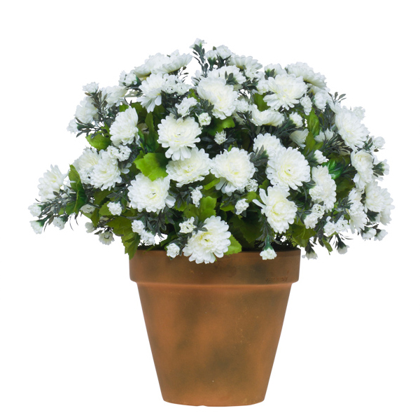 White Mum Pot