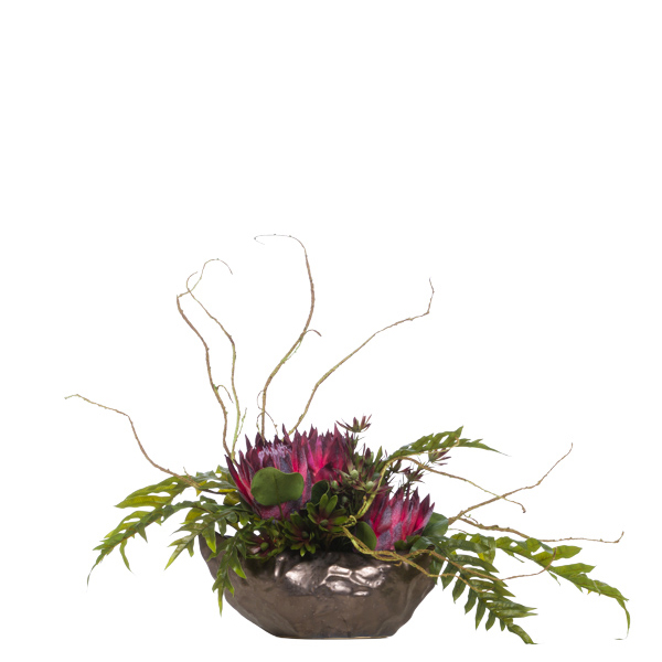 King Protea/Fern in Copper Boiling Pot