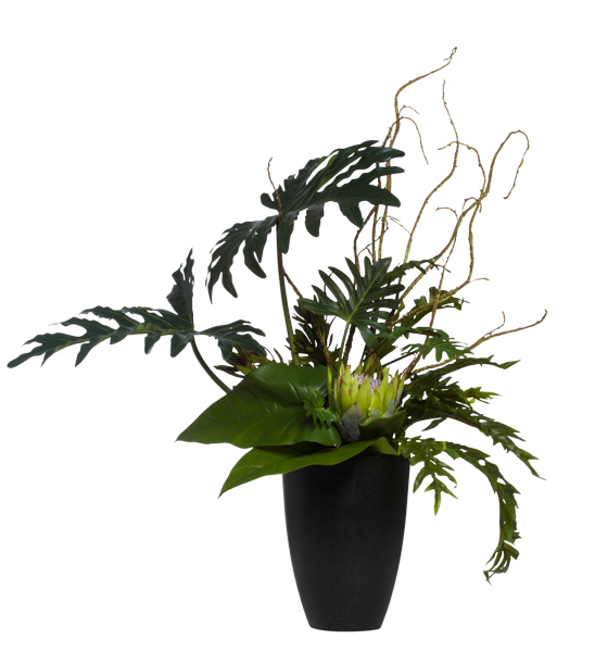 Mixed Tropical in Lg. Black Cylinder