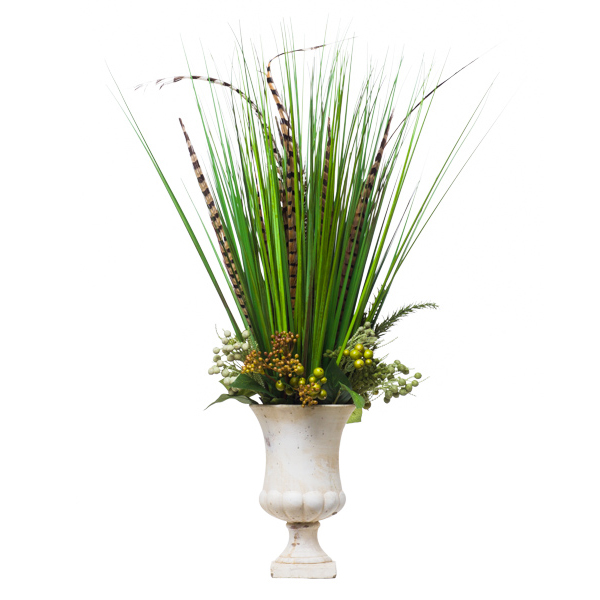 Grass/Feathers in Urn