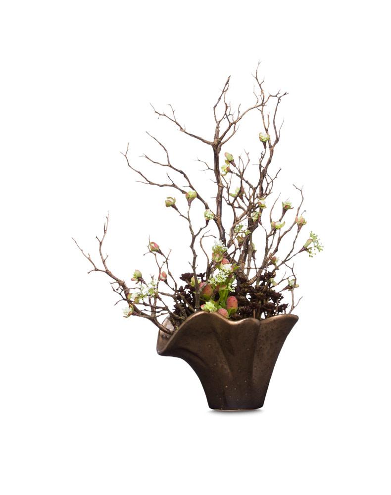 Succulent / Manzanita Branch in Copper Pot