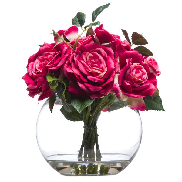 Roses Waterlike Pink