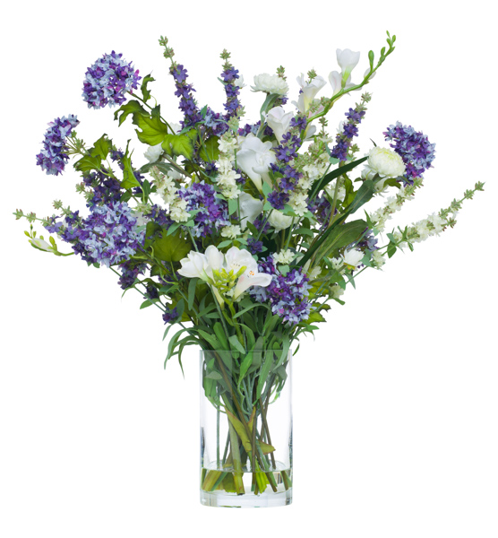 Lavender/Cream Floral Waterlike