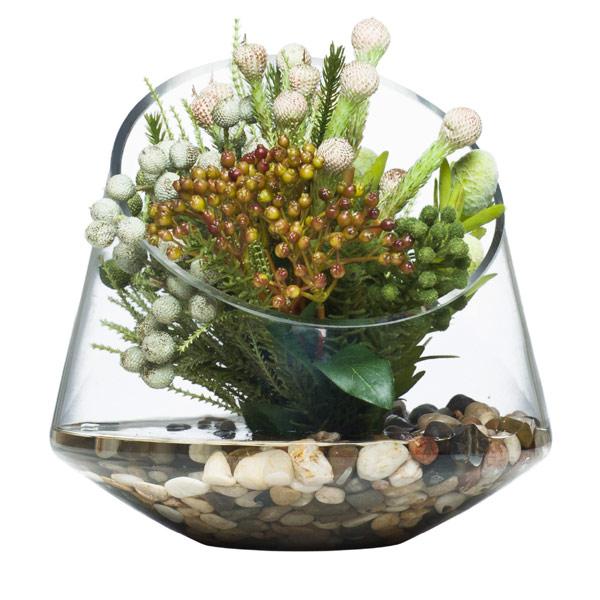 Protea Bouquet in Slant Vase Waterlike
