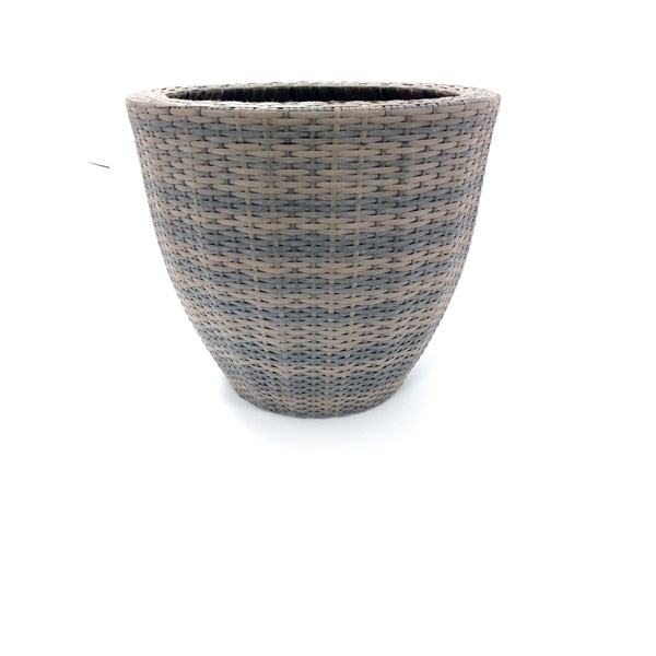 LARGE GREY WASH WEAVE BASKET