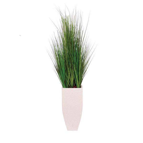 5.5' GRASS IN WHITE TERRAZZO SQUARE