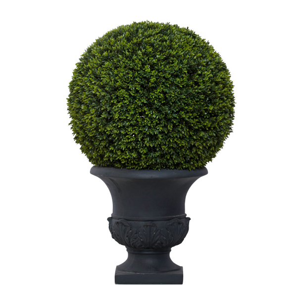 Med. Mini Boxwood Ball in Classic Grey Urn