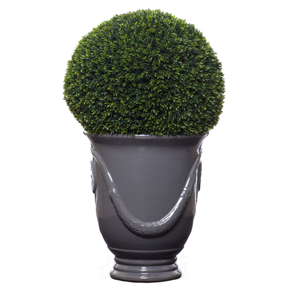 Sm. Mini Boxwood Ball in Garland Urn