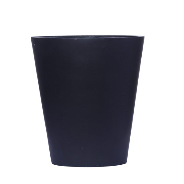 TALL BLACK CAT EYE OVAL POT