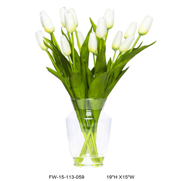 White Tulip Vase Waterlike