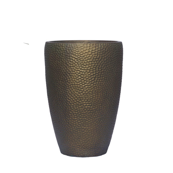TALL BRONZE DIMPLE POT