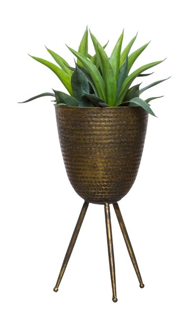 ALOE IN SMALL BRONZE PLANT STAND