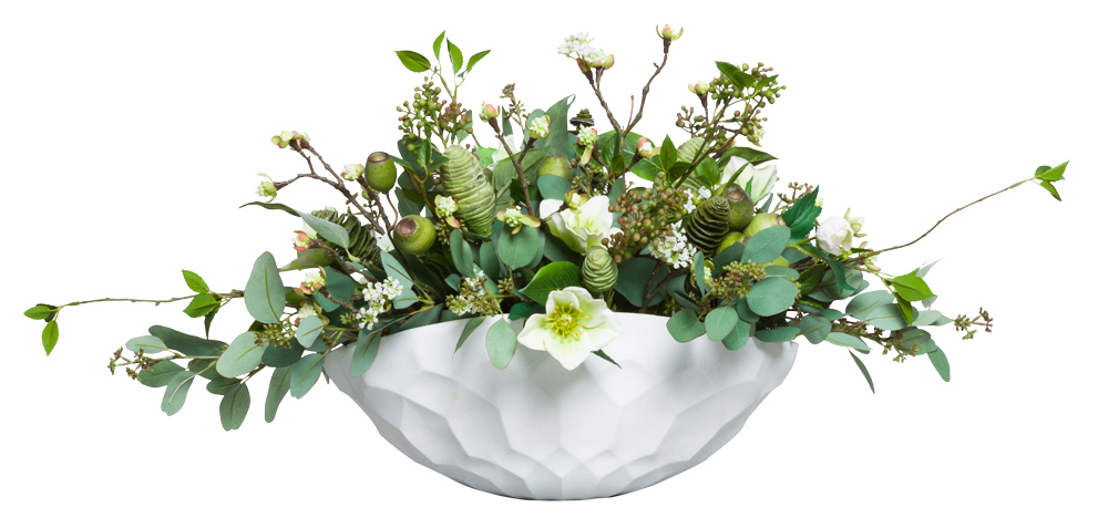 ASST FLOWER/SUCCULENT IN SMALL DENTED BOWL