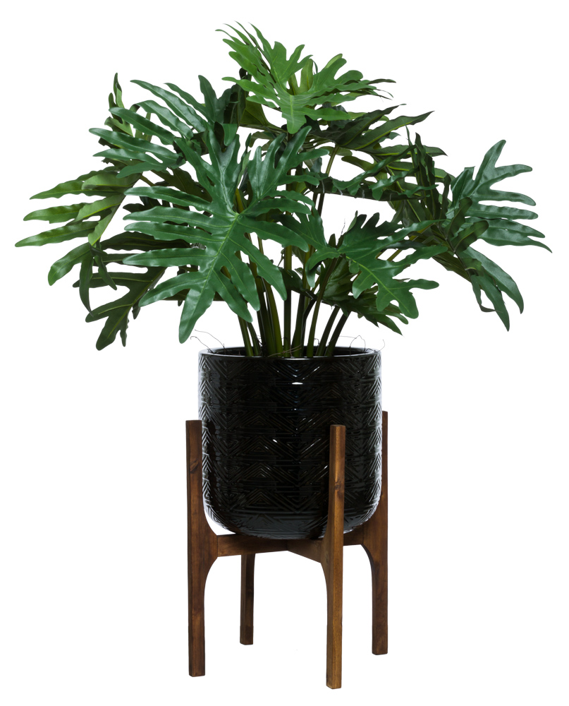 SELLOUM IN BLACK TEXTURED PLANT STAND