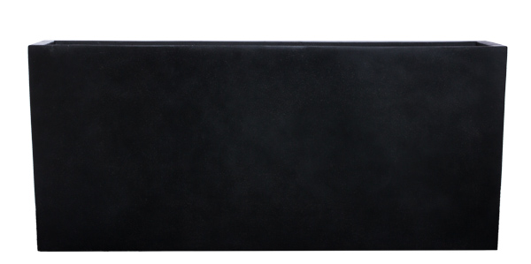 BLACK SANDSTONE RECTANGLE PLANTER
