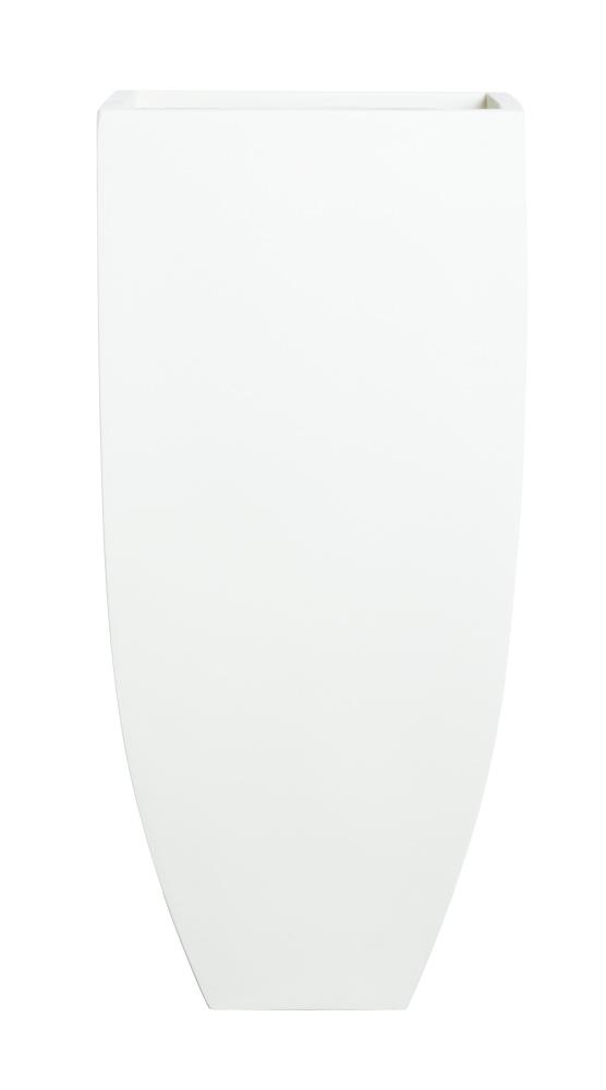 LARGE TALL SANDSTONE SQUARE WHITE POT